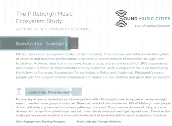 Executive Summary: Pittsburgh Music Study