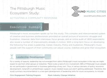 Executive Summary: Pittsburgh Music Study